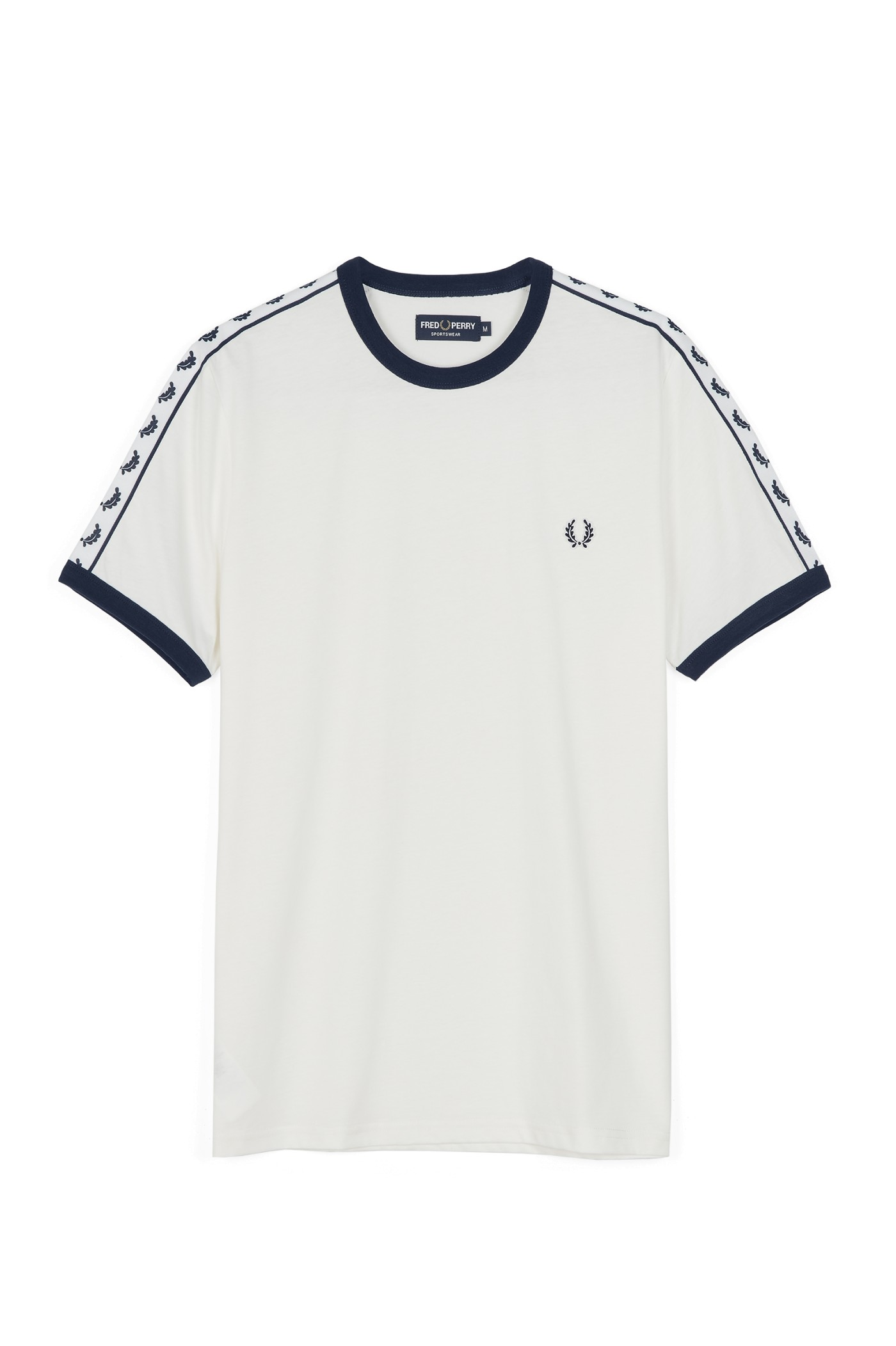 Fred Perry - Sports Authentic Taped Ringer T-Shirt Snow White