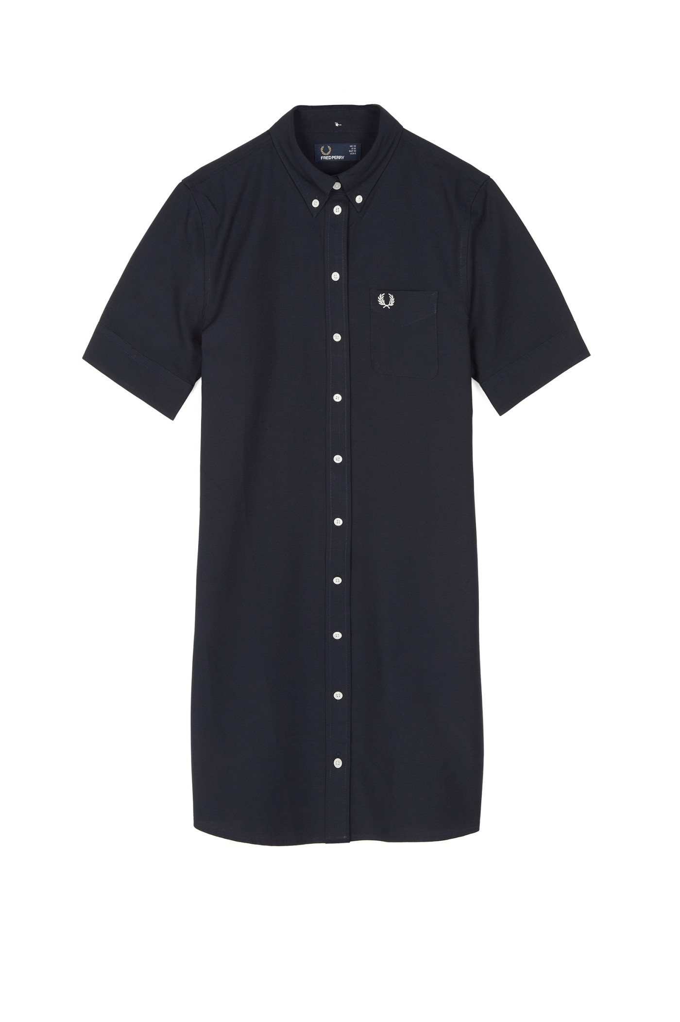 Fred Perry Oxford Shirt Dress Navy