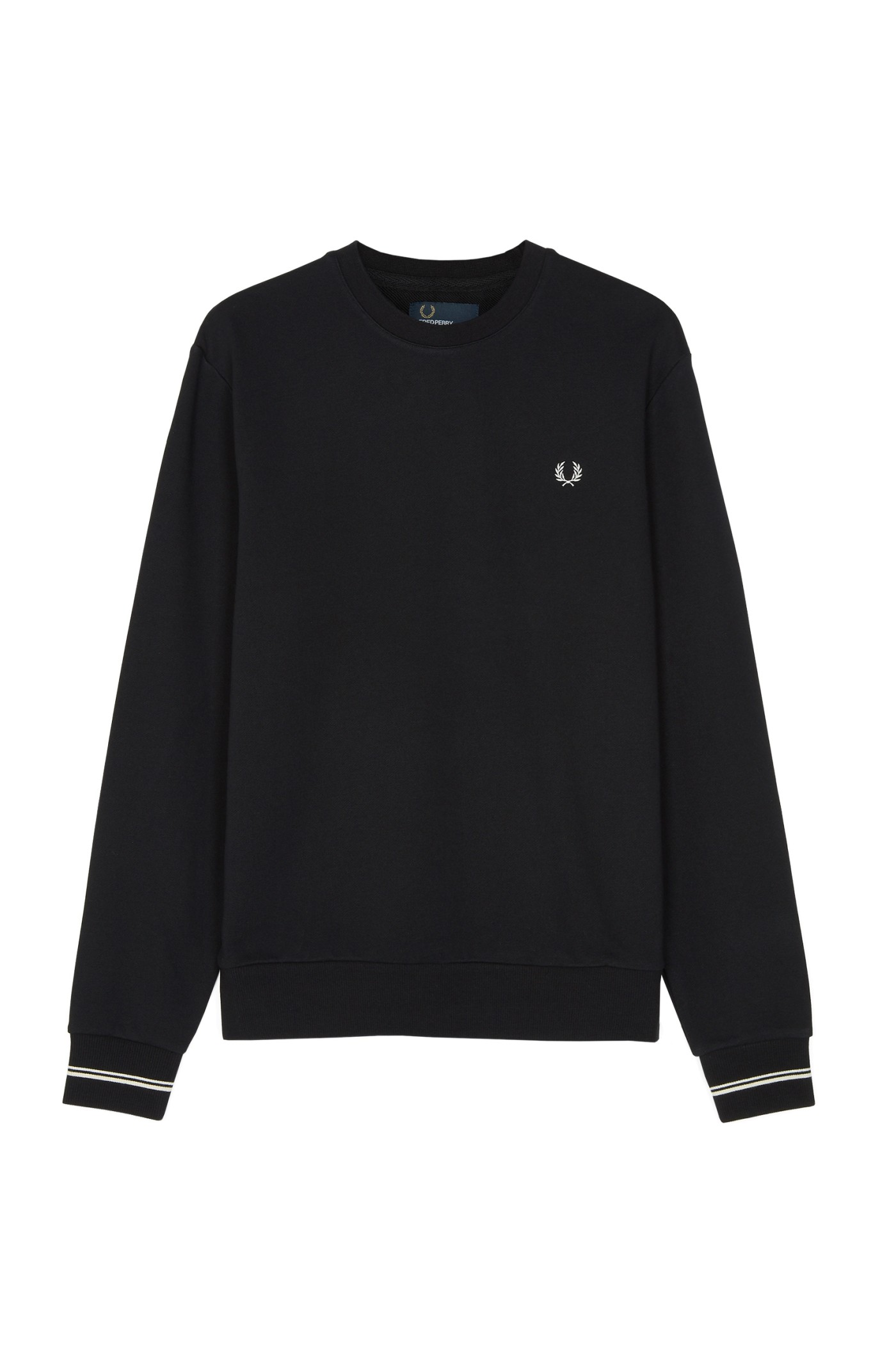 Fred Perry - Crew Neck Sweatshirt Black