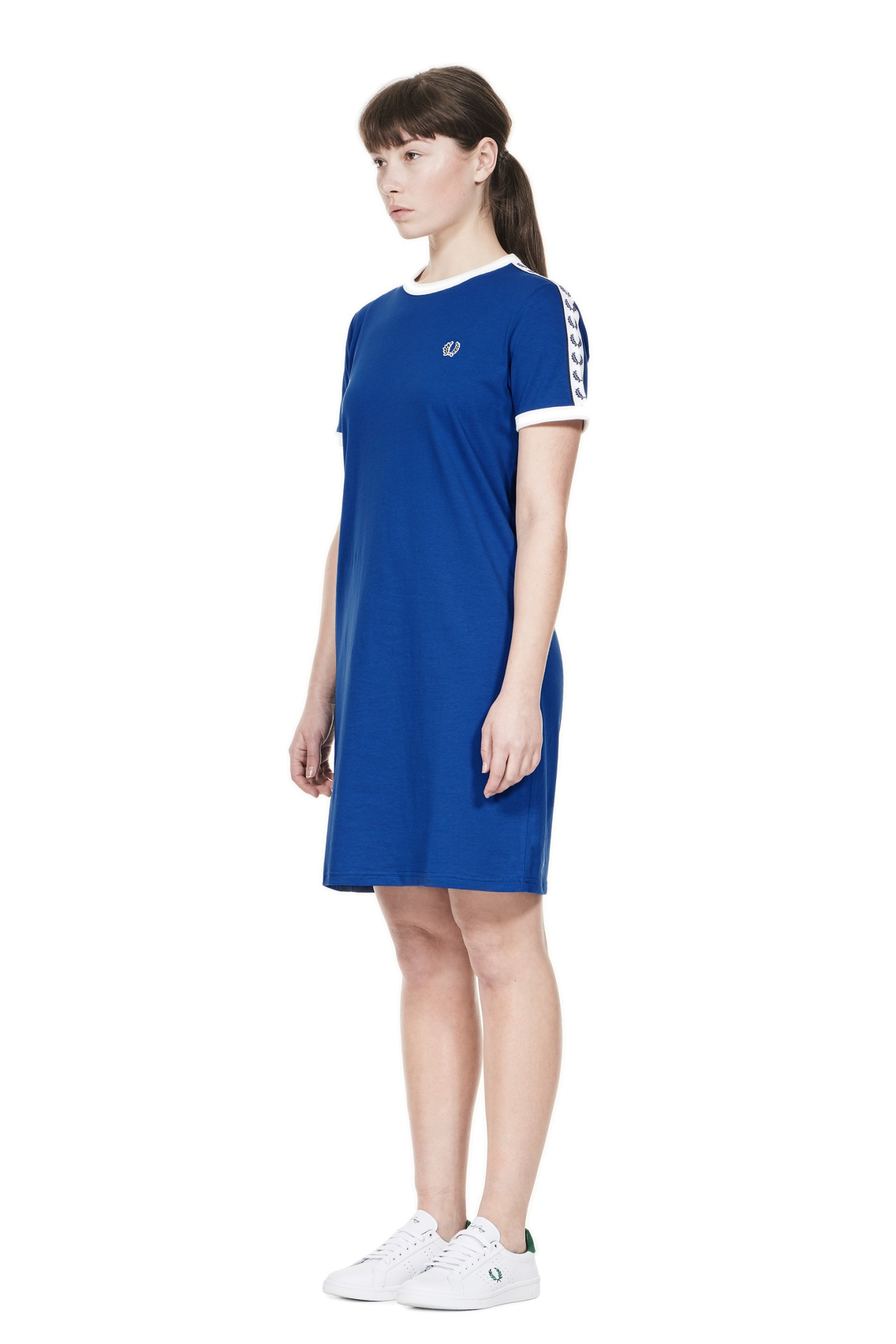 Fred perry sports authentic taped ringer t shirt dress regal for Sporty t shirt dress