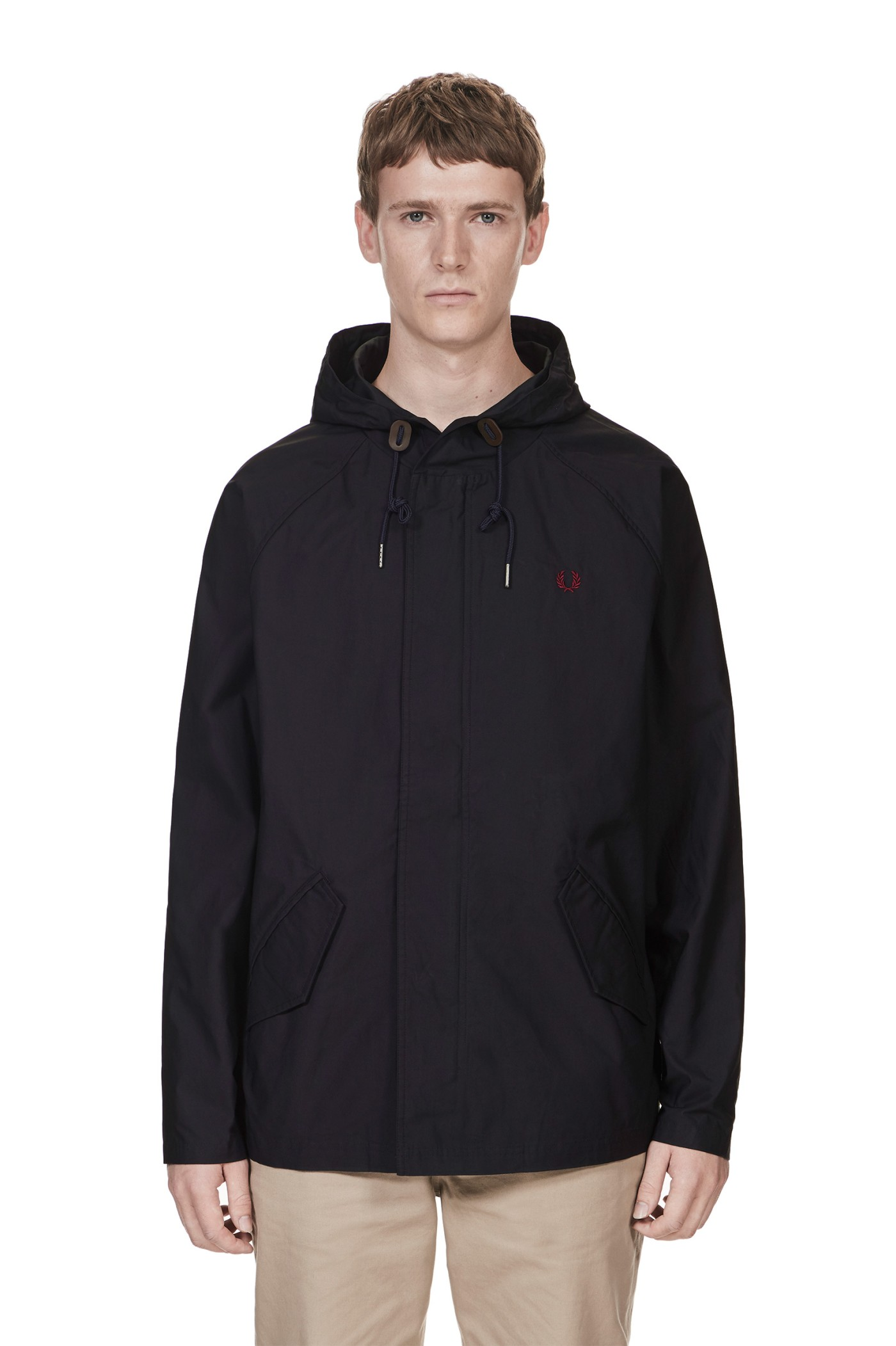 fred perry cropped fishtail parka navy. Black Bedroom Furniture Sets. Home Design Ideas
