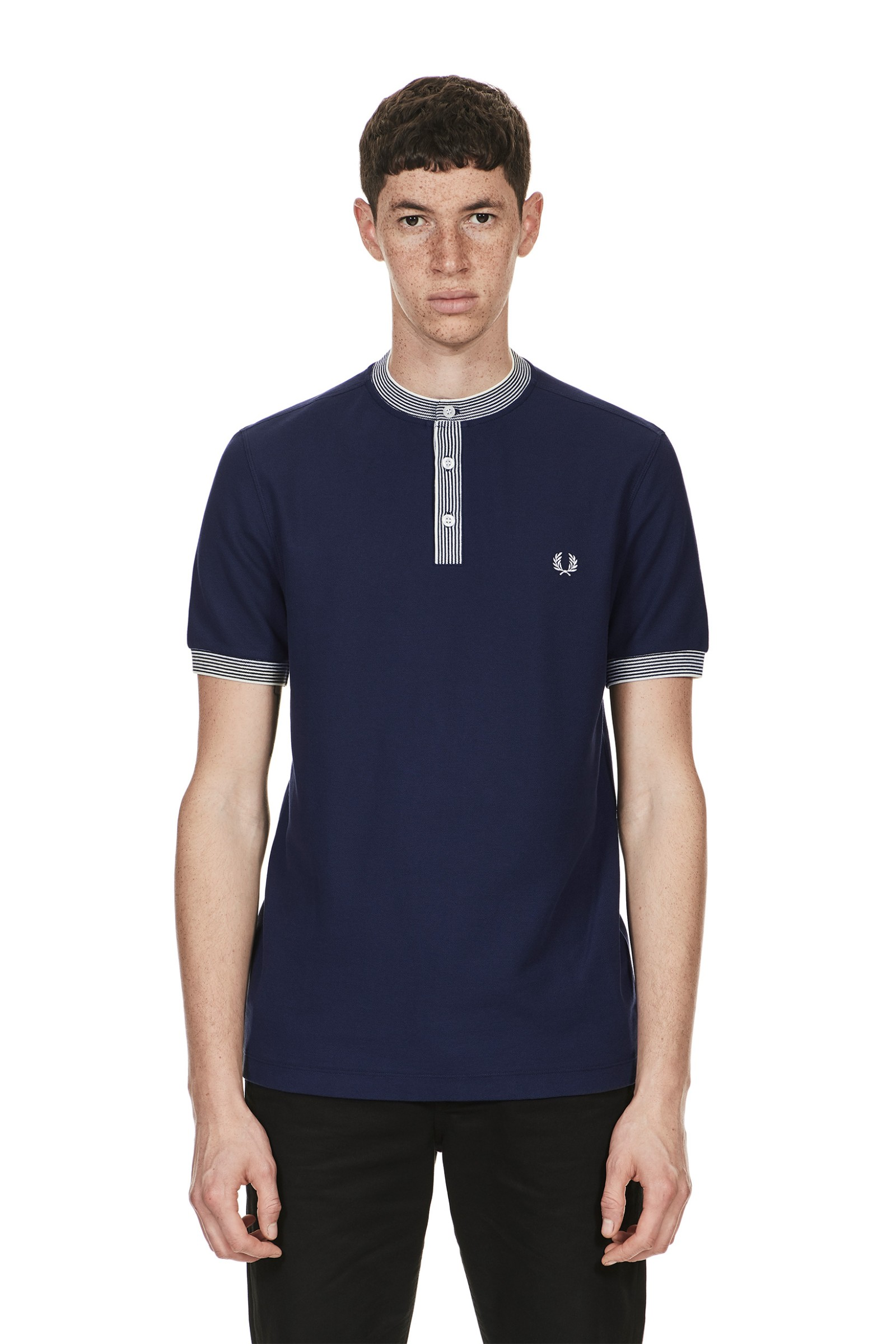 Genuine Dark Blue Fred Perry Polo Shirt q40UFERSp3