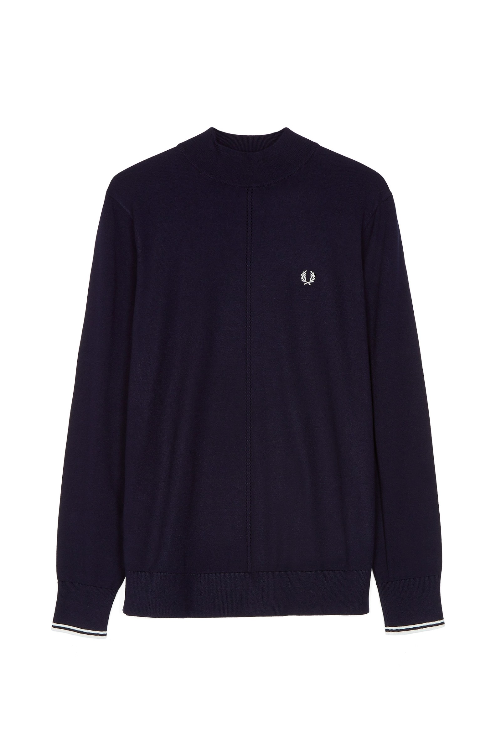Tipped Turtle Neck Jumper