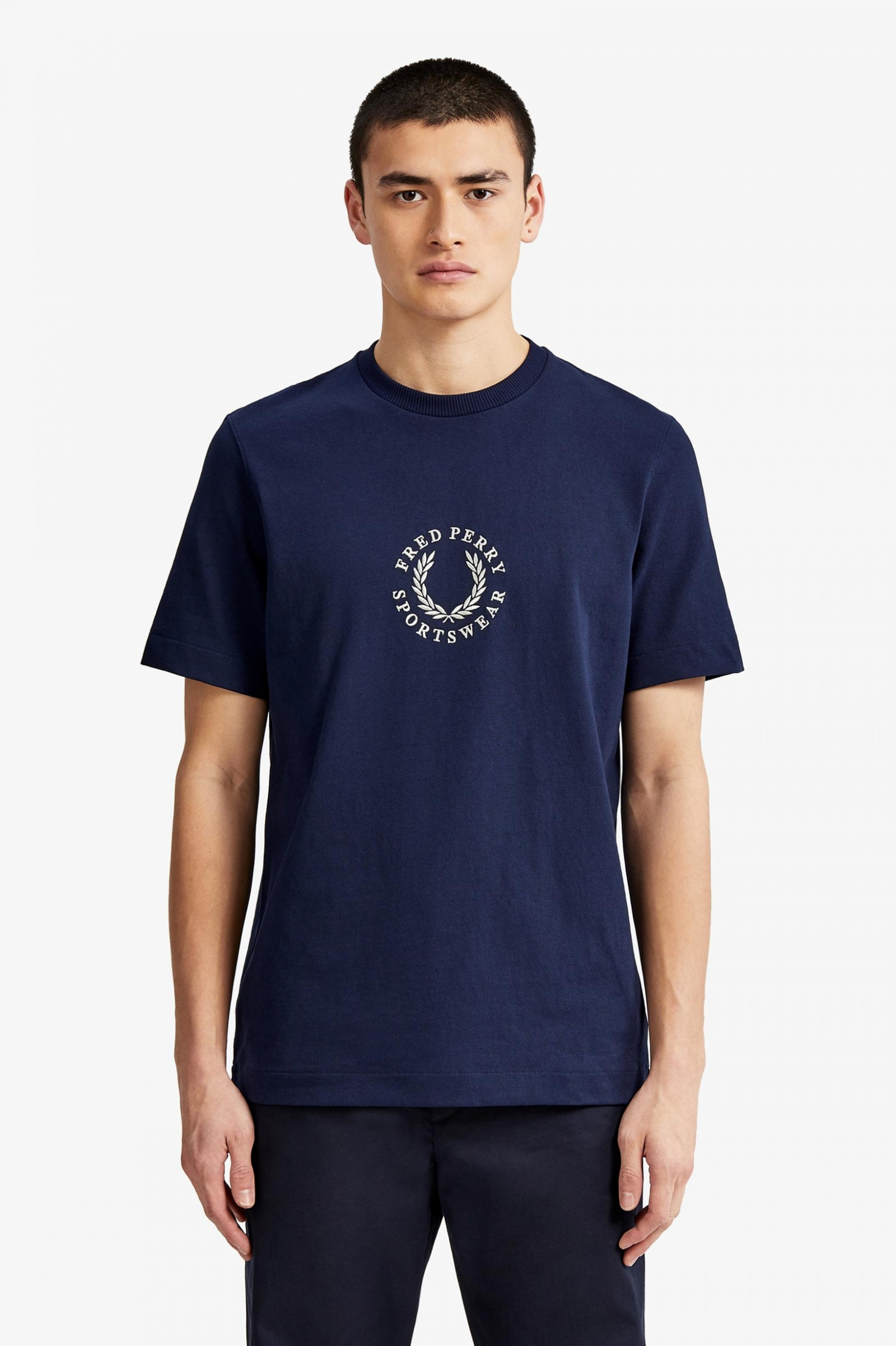 Archive Embroidery T-Shirt - Carbon Blue