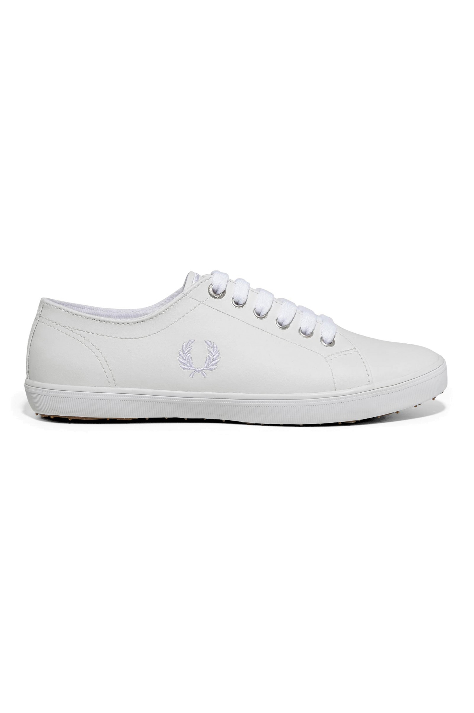 Kingston Leather Plimsolls In White - 200 Fred Perry NYdMii4E