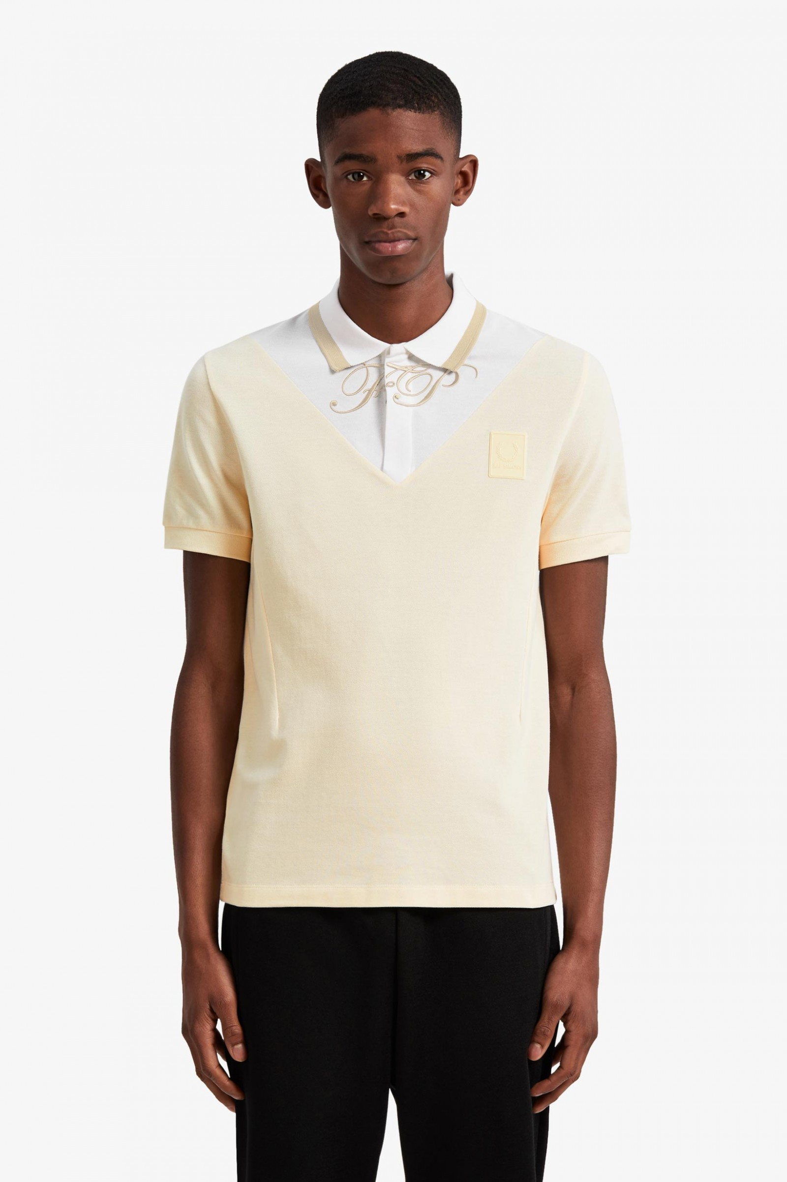 V Insert Polo Shirt Polar Polo Shirts Fred Perry Uk