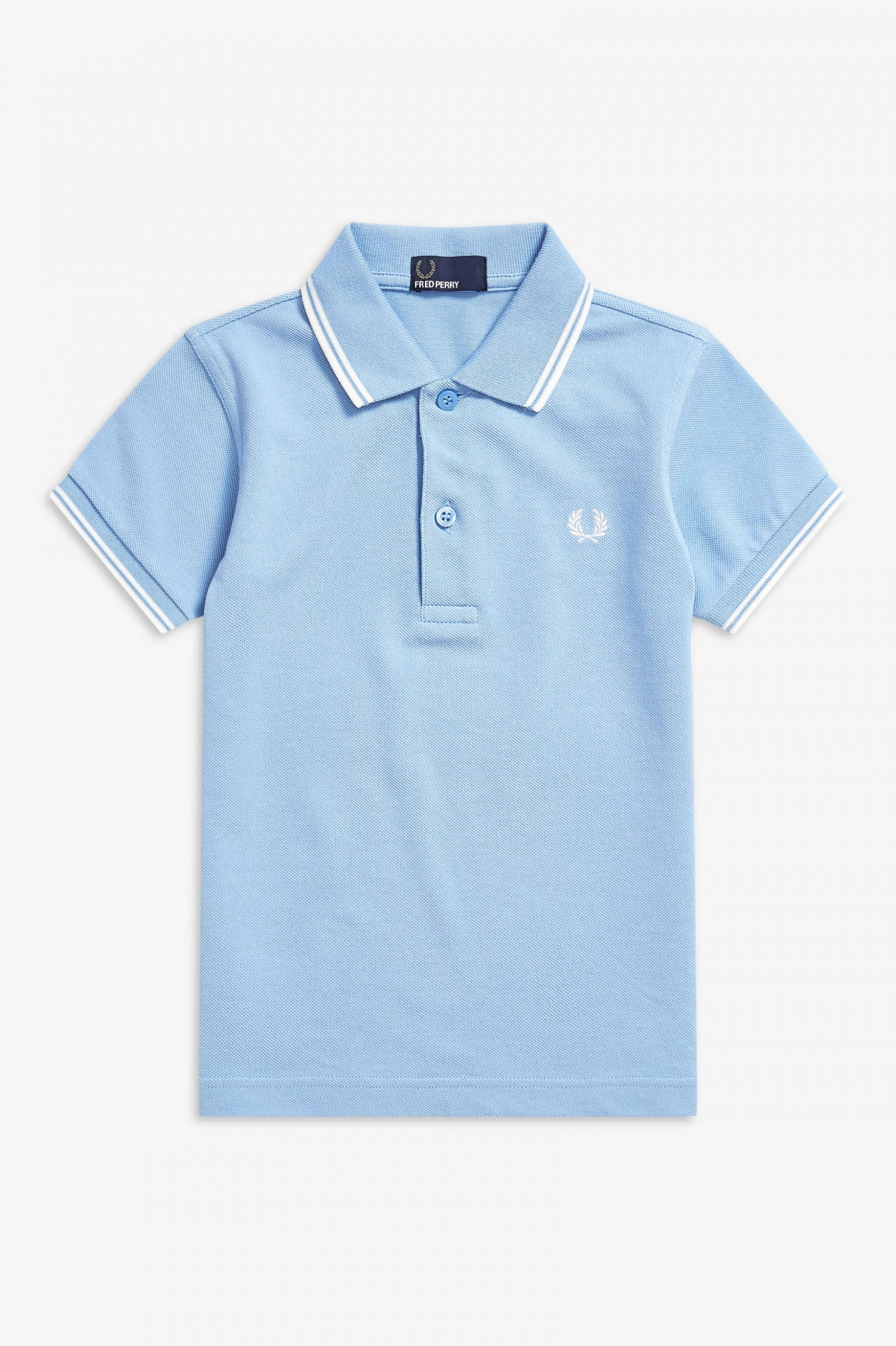 743bb2064 Kids Twin Tipped Fred Perry Shirt - Sky Blue   Snow White   Snow ...