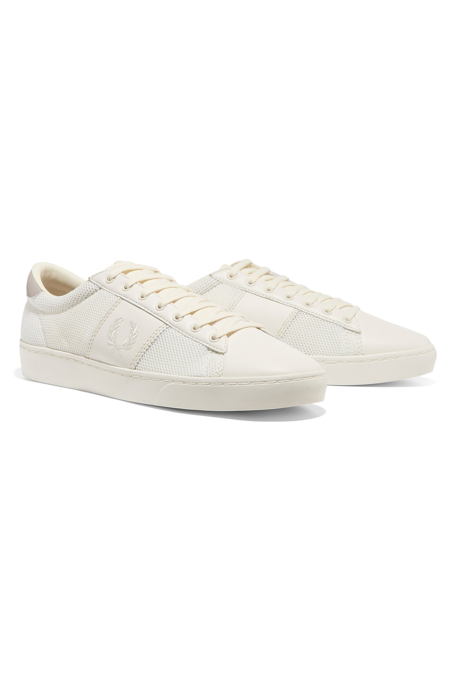 Spencer Mesh Leather Trainers In White - 760 Fred Perry Buy Cheap Inexpensive Outlet Online Cheap Sale Order Discount For Cheap rFriyd