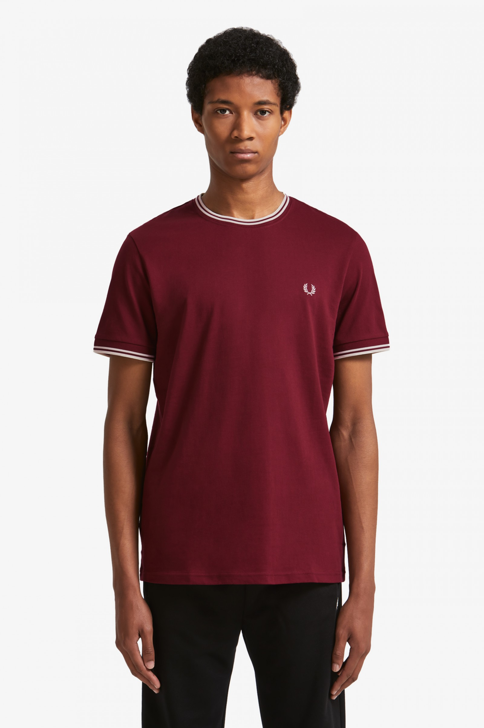 3ecb47189 Twin Tipped T-Shirt - Aubergine | Men's T-Shirts | Fred Perry US