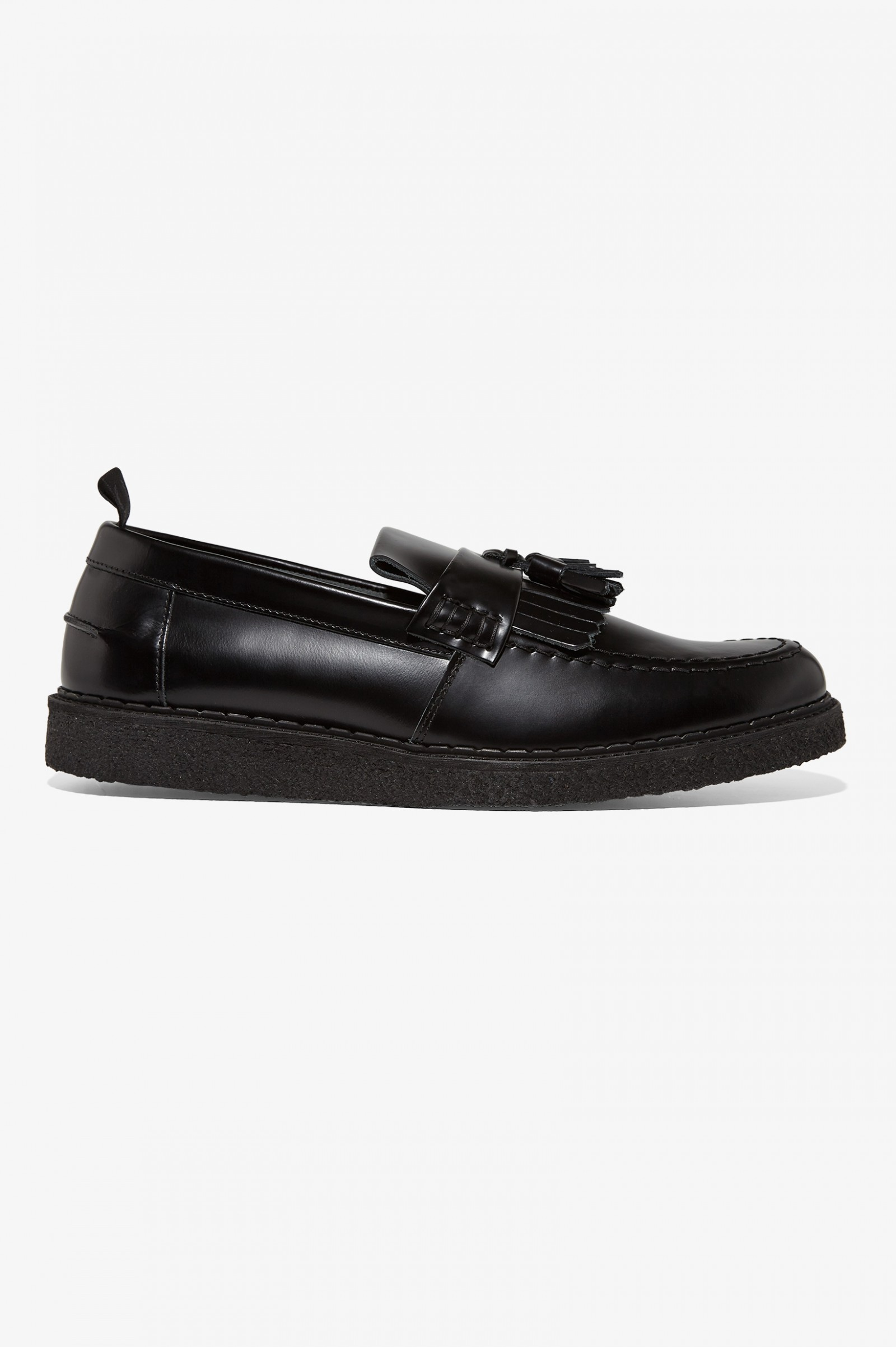 Fred Perry X George Cox Tassel Loafer Black Mens Footwear D Island Shoes Slip On Mocasine Casual Loafers 1