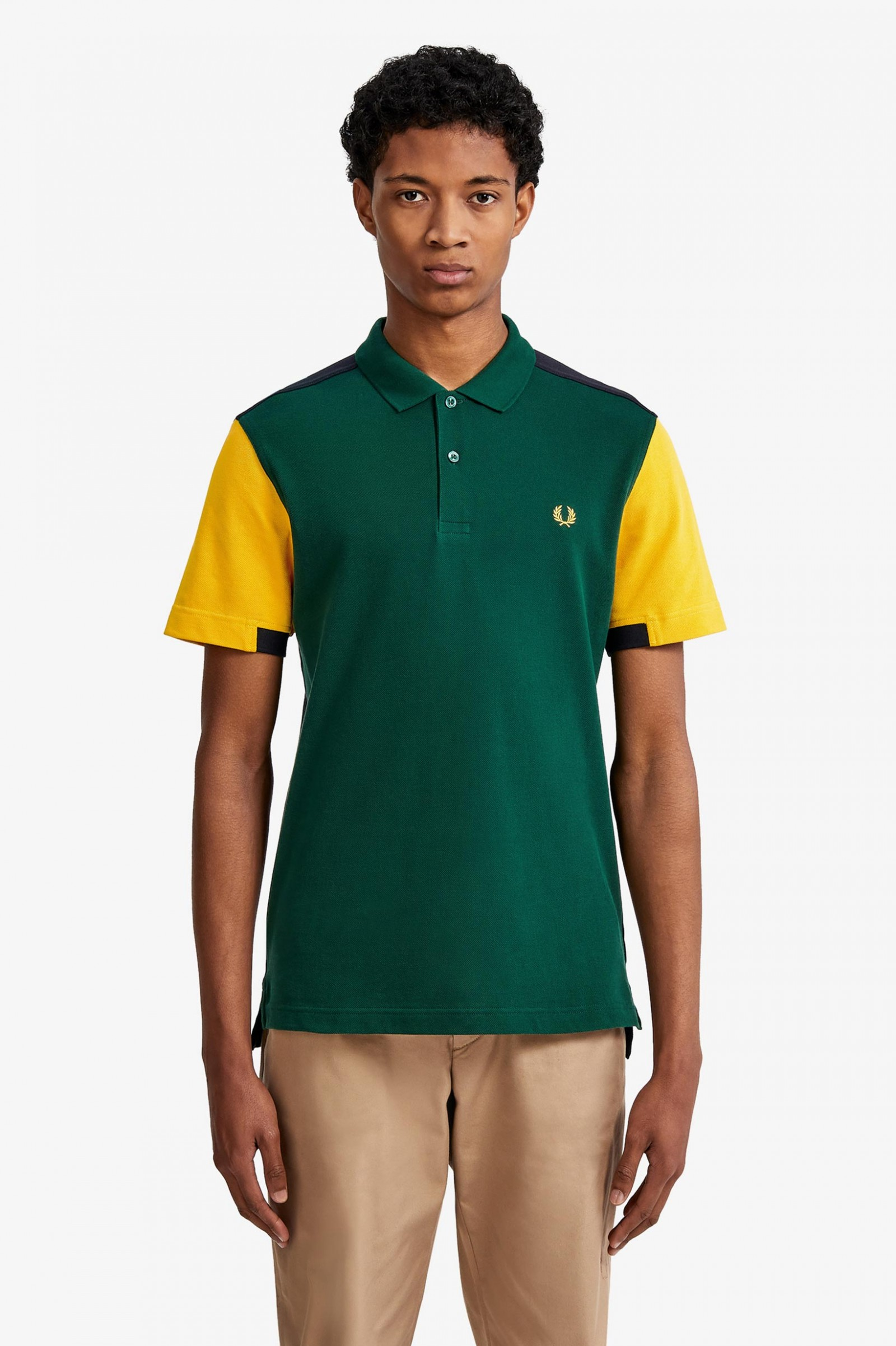 Bold Cuff Insert Polo Shirt Ivy Men S Polo Shirts Fred Perry Uk