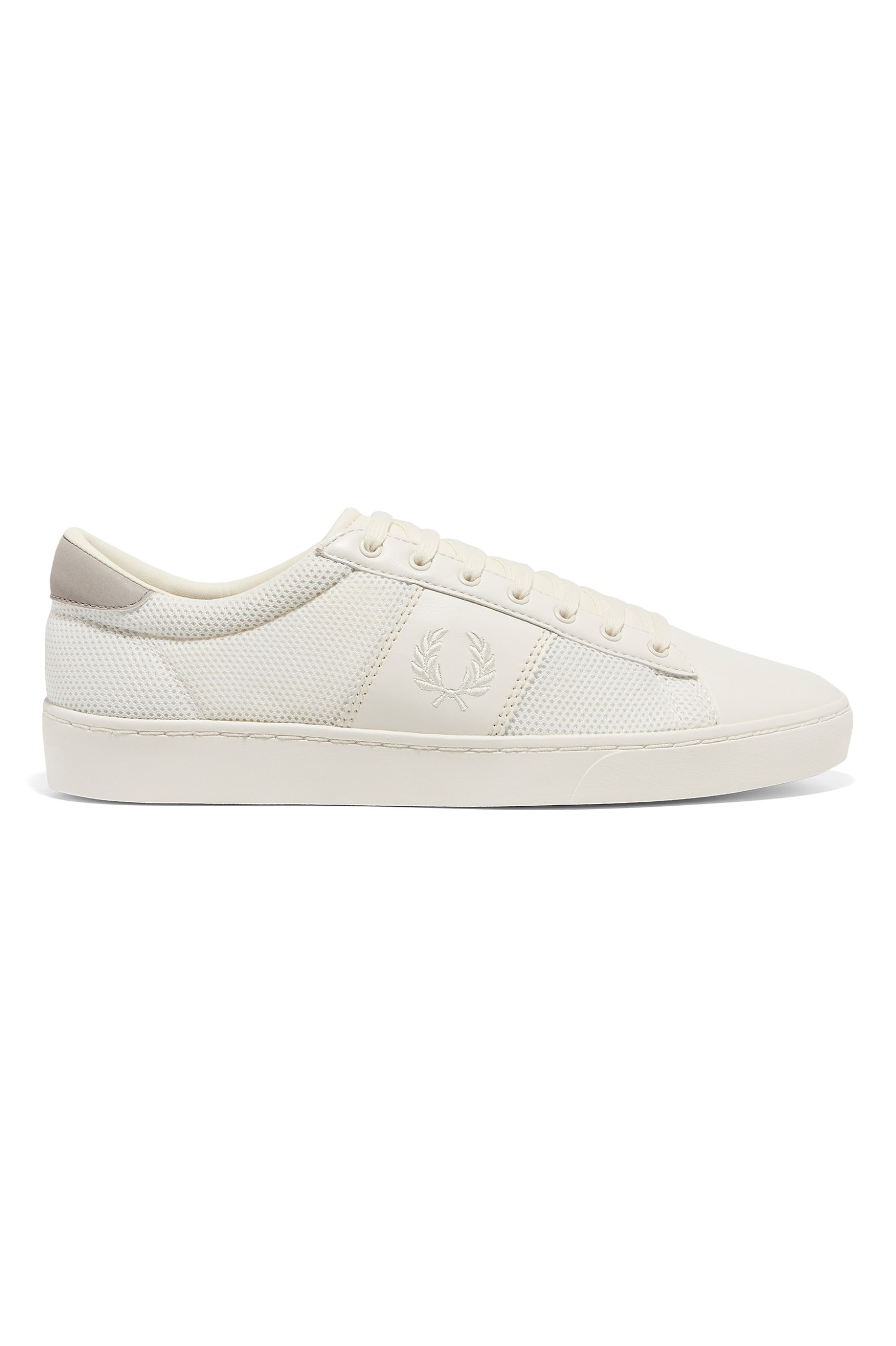 Fred Perry Spencer Maille Formateurs En Cuir Blanc - 760 IywSdQ